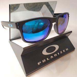 Oakley Holbrook Sunglasses Black / Blue Polarized